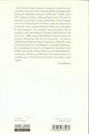Xxeme Siecle Mon Amour - 4ème de couverture - Format classique