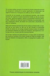 Harcelement Sur Le Lieu De Travail. L'Entreprise En Question. - 4ème de couverture - Format classique