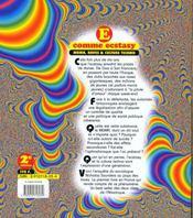 E Comme Ecstasy. Mdma, Raves Et Culture Techno - 4ème de couverture - Format classique