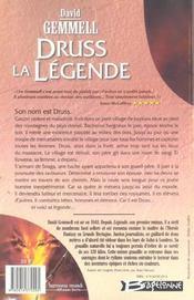 Cycle de Drenaï ; Druss la légende - 4ème de couverture - Format classique