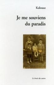 Je Me Souviens Du Paradis - Couverture - Format classique