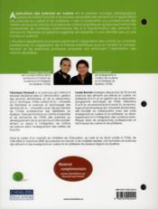 Applications des sciences en cuisine - 4ème de couverture - Format classique