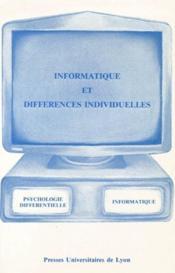 Informatique et différences individuelles - Couverture - Format classique