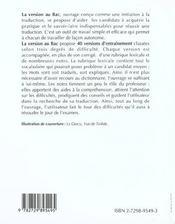 La Version Au Bac Espagnol - 4ème de couverture - Format classique