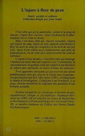 L'Injure A Fleur De Peau - 4ème de couverture - Format classique