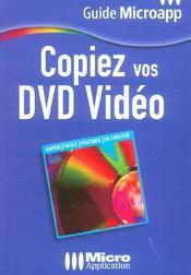 Copiez vos dvd video - Intérieur - Format classique