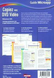 Copiez vos dvd video - 4ème de couverture - Format classique