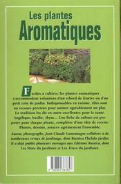Les Aromatiques - 4ème de couverture - Format classique