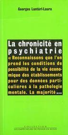 Chronicite En Psychiatrie (La) - Intérieur - Format classique