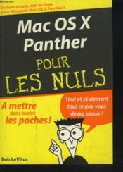 Mac Os X Panther - Couverture - Format classique