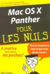 Mac Os X Panther - Intérieur - Format classique