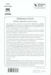 (Se) Former A L'Ecrit - 98 Fiches : Demarches Et Mises En Oe - 4ème de couverture - Format classique