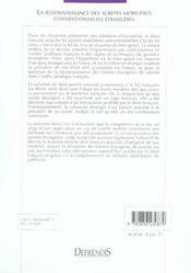 Reconnaissance Des Suretes Mobilieres (La) - 4ème de couverture - Format classique