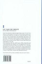 Le vase de delft et autres nouvelles - 4ème de couverture - Format classique