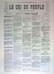 Cri Du Peuple (Le) N°36 du 06/04/1871 - Couverture - Format classique