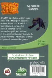 Le livre de la jungle t.4 ; la ruse de Baguera - 4ème de couverture - Format classique
