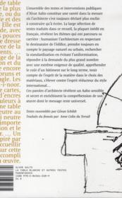 La table blanche et autres textes - 4ème de couverture - Format classique