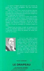 Le Drapeau - 4ème de couverture - Format classique
