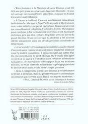 Sommaire Theologique De Saint Thomas D'Aquin - Tome 1 - 4ème de couverture - Format classique