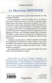 Le Marechal Berthier - 4ème de couverture - Format classique