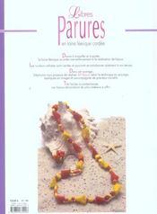 Libres Parures En Laine Feerique Cardee - 4ème de couverture - Format classique