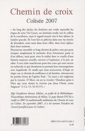Chemin de croix au Colisée - 4ème de couverture - Format classique