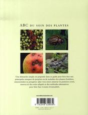 Abc Du Soin Des Plantes - 4ème de couverture - Format classique