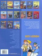 Léo Loden t.15 ; macchabées à l'escabèche - 4ème de couverture - Format classique