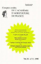 La prise en compte du gout ; place actuelle et avenir du pois protegianeux ; comptes rendus aaf t.81 - Couverture - Format classique