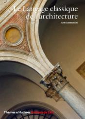 Le langage classique de l'architecture - Couverture - Format classique