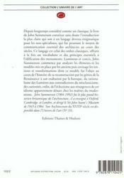 Le langage classique de l'architecture - 4ème de couverture - Format classique