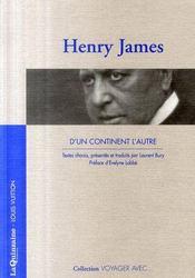 Voyager avec Henry James ; d'un continent à l'autre - Intérieur - Format classique