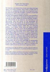 Voyager avec Henry James ; d'un continent à l'autre - 4ème de couverture - Format classique