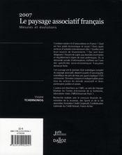 Le paysage associatif français - 4ème de couverture - Format classique