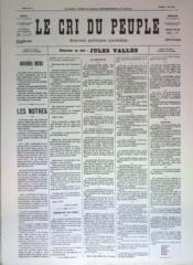 Cri Du Peuple (Le) N°37 du 07/04/1871 - Couverture - Format classique