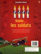 Habille... ; Les Soldats - 4ème de couverture - Format classique