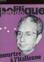 Politique Hebdo N°309 - Meutre A L'Italienne - Couverture - Format classique