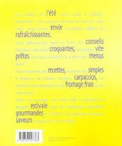 La cuisine de l'ete ; fraiche, croquante et rapide - 4ème de couverture - Format classique