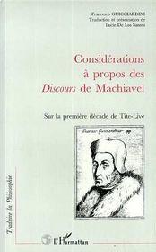 Considérations à propos des discours de Machiavel sur la première décade de Tite-Live - Intérieur - Format classique