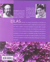Les Lilas - Les Meilleurs Choix - Les Plus Beaux Cultivars - Tous Les Conseils Pour Les Cultiver - 4ème de couverture - Format classique
