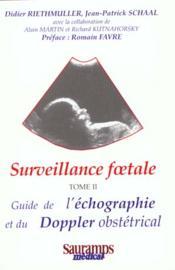 Surveillance Foetale Doppler Tome 2 - Couverture - Format classique