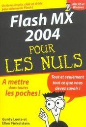 Flash Mx 2004 - Intérieur - Format classique