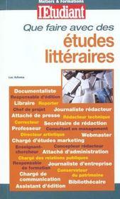 Que faire avec des études littéraires ? - Intérieur - Format classique