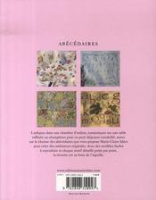 Abecedaires - 4ème de couverture - Format classique