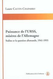 Puissance De L'Urss ; Miseres De L'Allemagne ; Staline Et La Question Allemande - Intérieur - Format classique