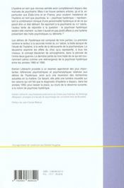 Delires De L'Hysterique (Les) - 4ème de couverture - Format classique