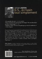 G.S., écrivain tout simplement - 4ème de couverture - Format classique