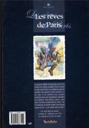 Les rêves de Paris - 4ème de couverture - Format classique