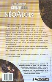Neoaddix - 4ème de couverture - Format classique