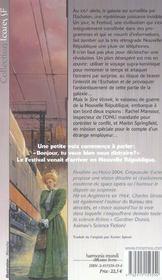 Crepuscule D'Acier - 4ème de couverture - Format classique